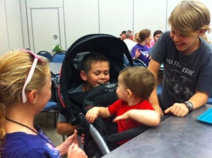 Josiah playing with the Cirre's and Phillip's kids.